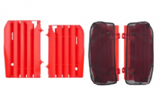 New Honda CRF 450 R 09 10 11 12 Radiator Rad Louvres Plastics & Mesh Covers Red
